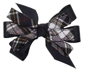 Small Pinwheel Bow French Clip