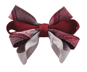 Small Plaid Carnival Bow